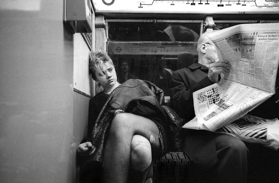 Пассажиры Лондонского метро 1980–1990-х годов