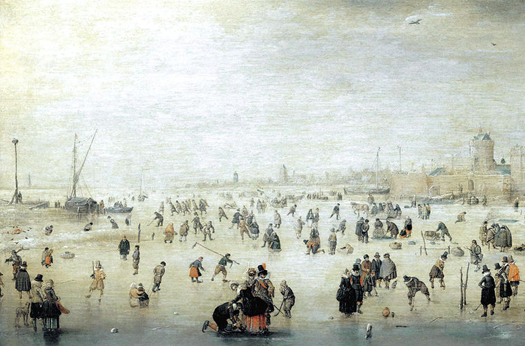 Катание на коньках в Средневековой Европе