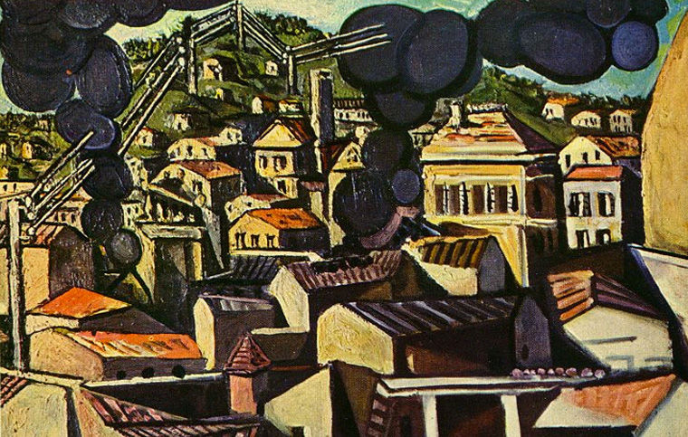 Пабло Писсаро. Дым над Валлори. 1951 год