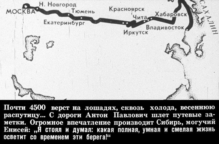 Маршрут Чехова на Сахалин