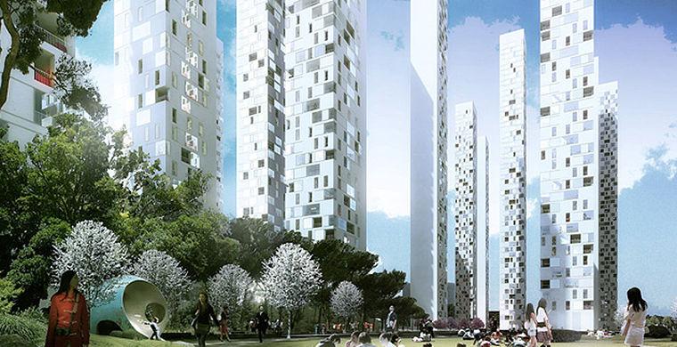 экогород, ветряки, нулевой выброс углерода, энергия солнца, город будущего