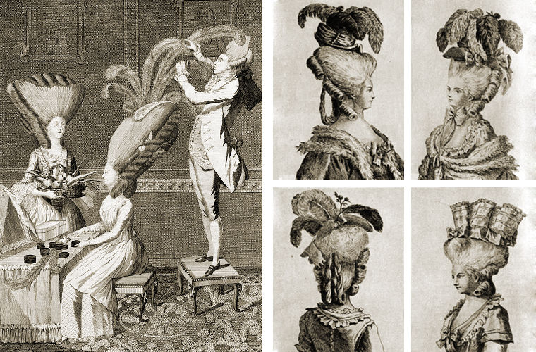 Екатерина Вторая, парики, мода