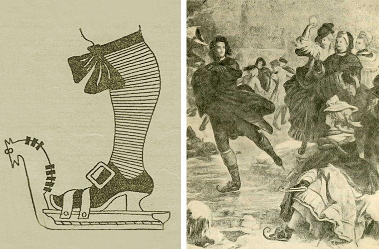 Катание на коньках в 18-19 веке