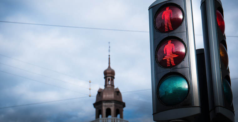 Дорожное движение в Дании