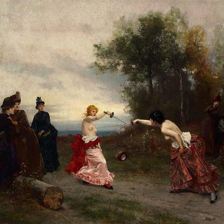 «Дело чести», Эмиль Антуан Байяр, 1884г.