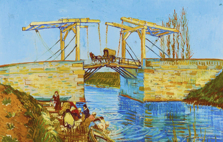 Винсент Ван Гог. Мост Ланглуа близ Арля. 1888 год