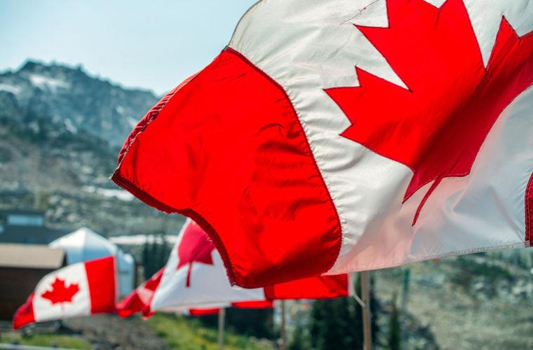 Канадский флаг, кленовый лист