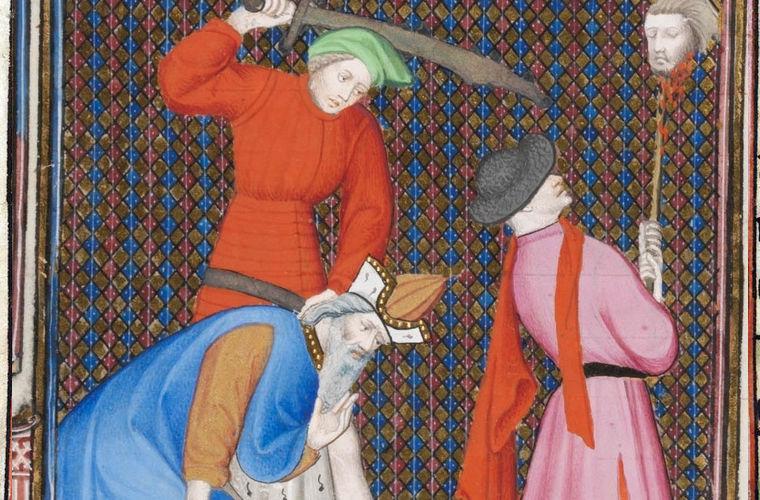 Иллюстрация начала XIV века. Крестоносцы.