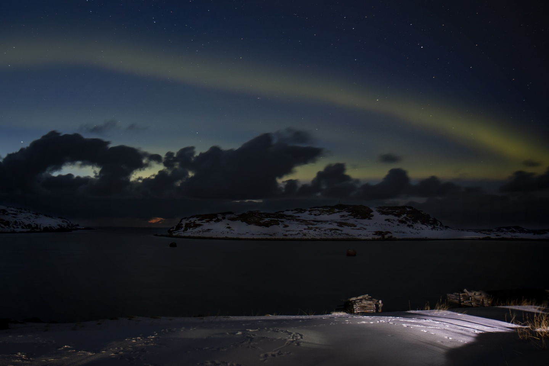 Прекрасное полярное сияние радовало нас каждую ночь