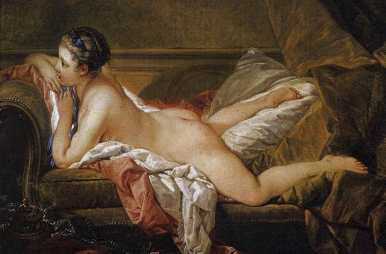 Франсуа Буше. Отдыхающая девушка. 1752 год
