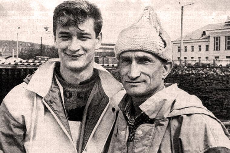 Евгений Смургис с сыном Александром