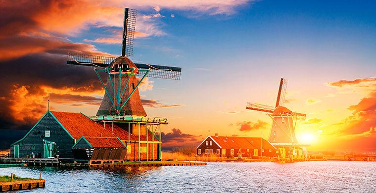 Голландия: Мельницы