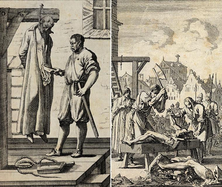 казнь, гравюра, Европа